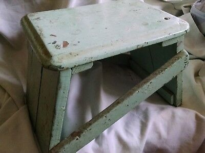 Antique Southwestern Original Paint Step Stool Primitive Furniture New Mexico