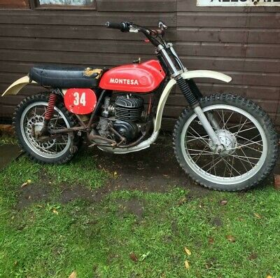 Montesa Cappra 250cc Classic motorbike with Akront wheels - untouched barn find