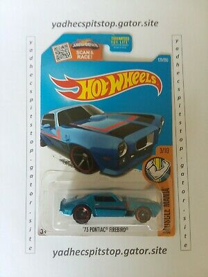 2016 Hot Wheels '73 Pontiac Firebird Muscle Mania 3/10 # 123 Blue