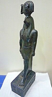 RARE ANCIENT EGYPTIAN ANTIQUE Horus Statue Stone Ancient Antique 1700-1210 BC
