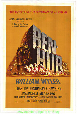 "/""BEN HUR/"" Charlton Heston and Jack Hawkins Epic Movie Poster A1A2A3A4Size"