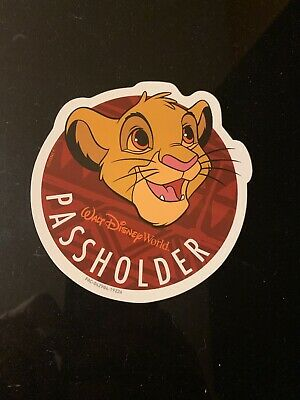 Disney Annual Passholder Simba MAGNET Lion King Animal Kingdom AP Original
