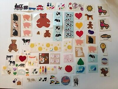 Vintage Sticker Collection Lot 100+ Mrs. Grossman Sandylion Lisa Frank Fuzzy Hea