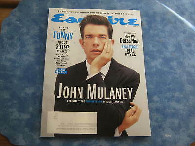 ESQUIRE MAGAZINE October 2019 JOHN MULANEY FUNNIEST GUY How We Dress Now NEW