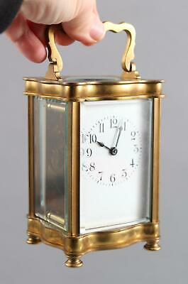 Antique 19thC Serpentine Gilt Brass, French Carriage Clock, NO RESERVE!