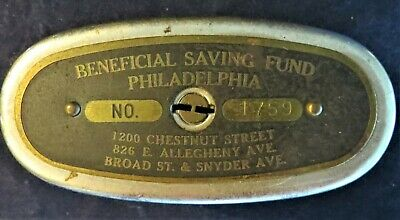 """Vintage Metal Bank """"The Traveling Teller"""" """"The Automatic Recording Safe Co."""""""