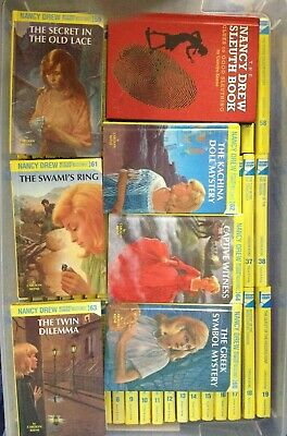 LOT NANCY DREW MYSTERIES COMPLETE 100% FLASHLIGHT SET 1-64 & Sleuth Guide