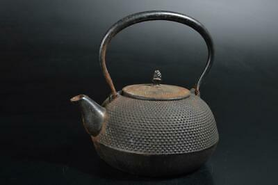 T2361: Japanese Iron Arare pattern TEA KETTLE Teapot Tetsubin, auto Tea Ceremony