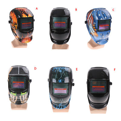 Solar Powered Auto Darkening Welding Helmet Arc Tig Mig Grinding Welder Mask  Bi