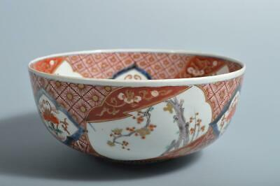T3178: Japanese Old Imari-ware Colored porcelain Kashiki DESSERT BOWL/dish