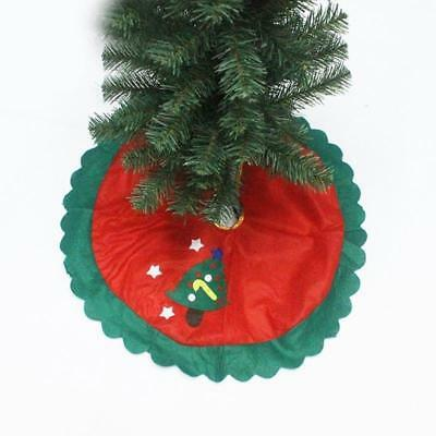 Christmas Santa Claus Tree Skirt Stands Ornaments Xmas Party Decoration JJ