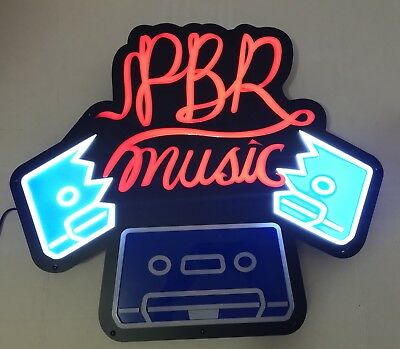 "Pabst Blue Ribbon PBR Music Motion LED Beer Sign 30x30"" - Brand New In Box!"