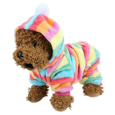 Flannel Dog Jumpsuit Winter Dog Clothes Small Puppy Coat Pet Outfits Hoodie