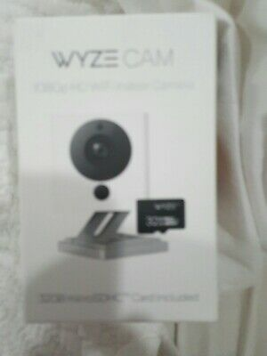 New Wyze Cam V2 HD  Smart Home Camera W/ Night Vision & 32GB SD Card