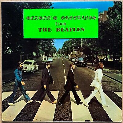 The Beatles~Abbey Road~Us Orig'69 Apple So-383 1St Press Christmas Banner Sealed