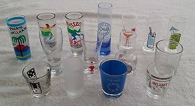 15 Shot Glasses Lot Mexico Dave and Busters Expo 67 Shooter Desert Tequila Glass