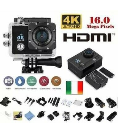 Cam Pro 4K SPORT WIFI ACTION CAMERA ULTRA HD VIDEOCAMERA SUBACQUEA GOPRO Q3 EMMS