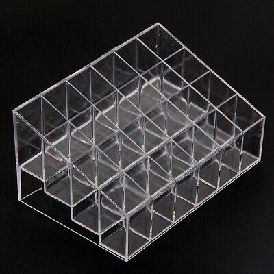 Clear 24 Makeup Cosmetic Lipstick Storage Display Stand Rack Holder Organizer