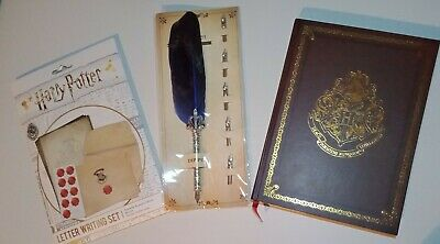Harry Potter bulk Set Includes Hardcover Notebook, feather Pen + letter writing