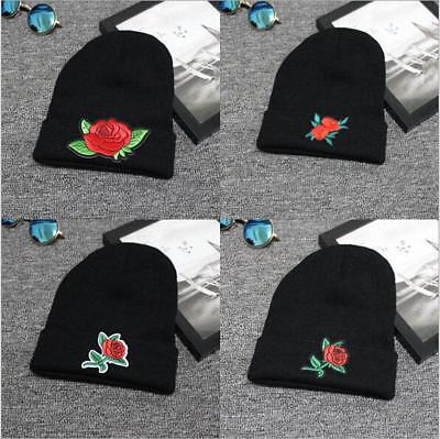 Unisex Women Men Beanie Hat Embroidery  Cool Knitted Cap Headwear JJ