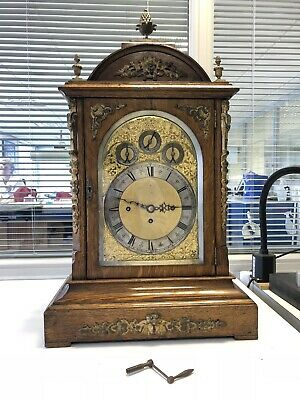 Bracket Clock Antique Musical Triple Fusee Very Large