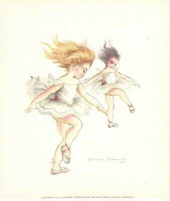 Original Brownie Downing  Prints from the 60's   3 x assorted ballerinas