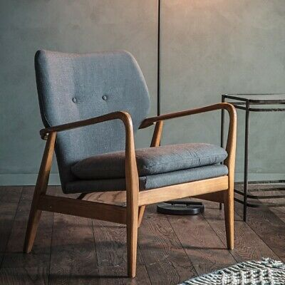 Frank Hudson Gallery Direct Jensen Grey Fabric Armchair