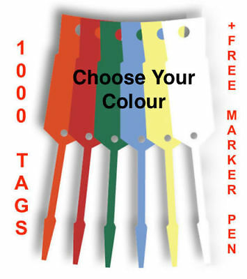 Disposable Vinyl Car Key Tags x 1000 With Free Felt Tip Marker -FREE POSTAGE