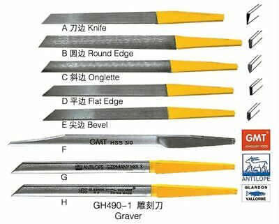 8pcs Different Gravers High Speed Steel For Jewelry Jewellery & Engravers Tools