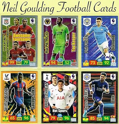 PANINI Premier League ADRENALYN XL 2019/2020 ☆ INSERT CARDS ☆ #397 to #462 + 469