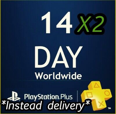 PSN PLUS 1 Month(2x14) DAY TRIAL - PS4 - PS3 - PS Vita - PLAYSTATION (account)