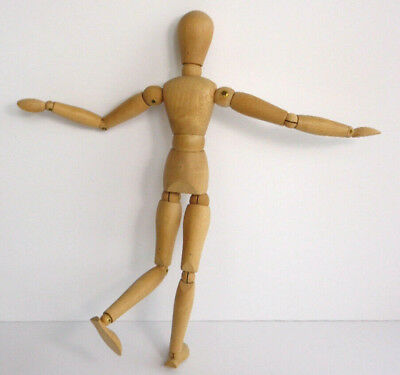 Vintage Articulating Wood Artist Model Figure Mannequin with movable Joints 12""