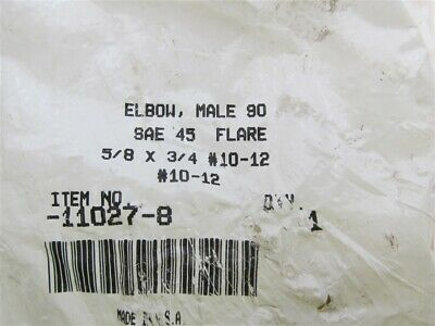 """11027-8, Elbow,Male 90, SAE, 45 Flare 5/8"""" x 3/4"""", #10-12"""