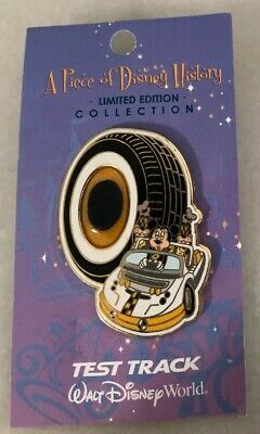 Disney WDW Walt World Piece of History Pin LE 2500 Test Track Mickey Goofy