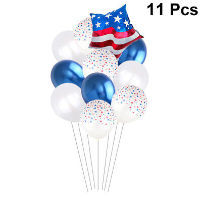 11pcs Balloons Printing Aluminium Film Latex Star Balloon for Festival Gathering