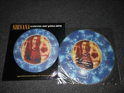 "Nirvana 12"" Picture Disc Lim. Ed. Come As You Are Die Cut Cover Nm Foo Fighters"