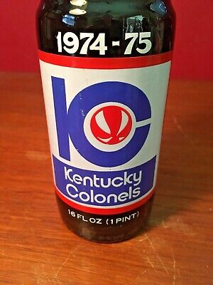 Royal Crown Cola RC 1975 Kentucky Colonels Basketball Souvenir Bottle ACL 16 Oz