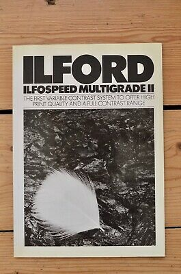 Ilford Ilfospeed Multigrade II and Multigrade IV RC Deluxe Books