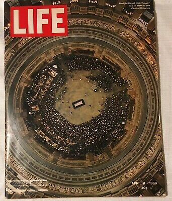 LIFE MAGAZINE April 11 1969 President DWIGHT D. EISENHOWER Funeral IACOCCA Cosby