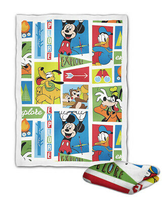 Mickey Mouse And Friends Explore Blanket ( KIDS / MEDIUM / LARGE )