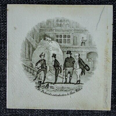 T & R Boote - Rare Charles Dickens Tile - C1880 - Introduction To Sam Weller