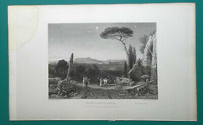 FRANCE Italy Coast of Genoa - 1833 Antique Print Engraving
