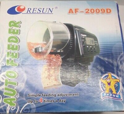 Resun Auto Feeder AF-2009D Fish Food Feeder LCD Display Up To 4 Times A Day