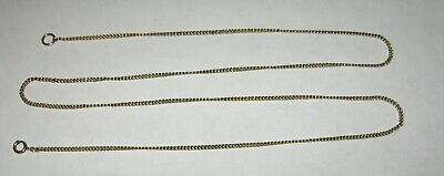 """Vintage 12K Gold on Sterling Silver 24 1/2"""" Necklace Chain 5.8 Grams"""