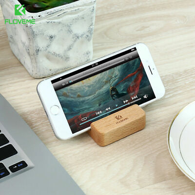 Universal Wooden Mobile Phone/Tablet Desk Stand Holder - Samsung iPhone Htc ipad