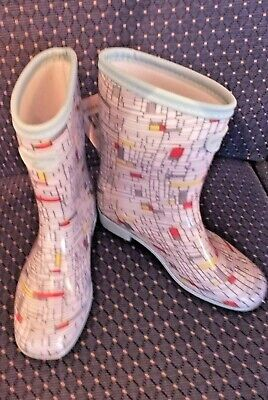 Womens 50'S Print Short Wellies Ankle  Boots Wayne Hemingway For Briers  4 Bn