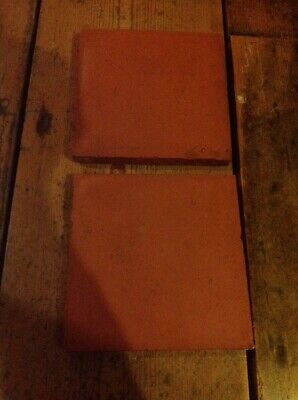 "2 Vintage Tiles Horseshoe 6"" Square"