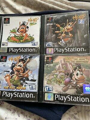 Sony PlayStation PS1 Hugo 2 , Frog Fighter & The Evil Mirror Games Bundle