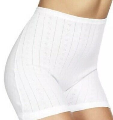 M&S COLLECTION Women's 1 Pair Pure Cotton Long  White Knickers Size UK 14 NEW!