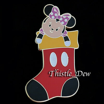 Disney MINNIE Stocking TRADING PIN Mickey Very Merry CHRISTMAS PARTY 2017 LE WDW
